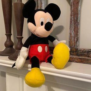 "Disney Mickey Mouse Plush - EUC 16"" tall"